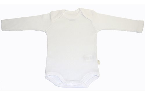 Cambrass 2266 - Body de manga larga para bebe recién nacido, talla 52 cm, color blanco