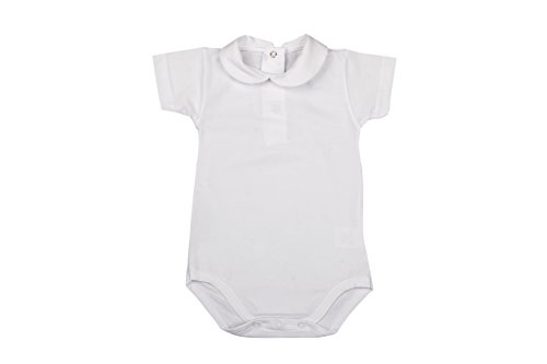 BabyVip - Body para niño y niña, Estilo Abotonado, 100% algodón, Hilo escocés - Blanco - 18-24...