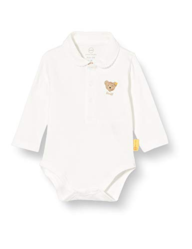 Steiff Body Langarm mit süßem Bubikragen, Blanco, 1 mes Unisex bebé