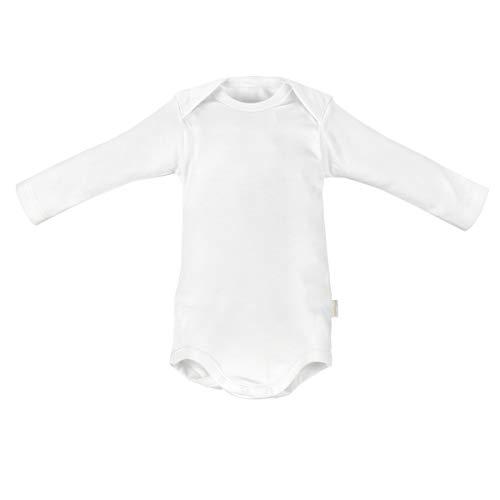 Cambrass 2266 - Body de manga larga para bebe recién nacido, talla 52 cm, color blanco