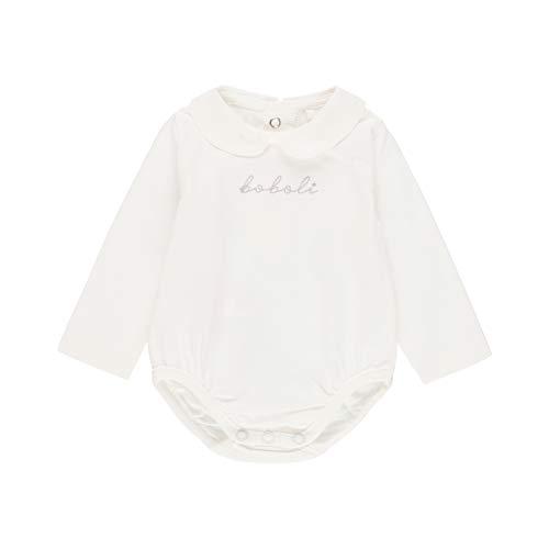 boboli - Body Liso de Bebé | Body Bebé Liso, Talla de 3 Meses | Body Bebé con Corchetes, 100%...