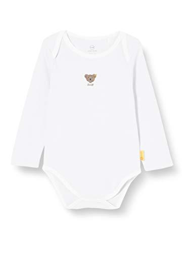 Steiff Body Langarm mit Rundhals, Blanco Brillante, 3 Mes Unisex bebé