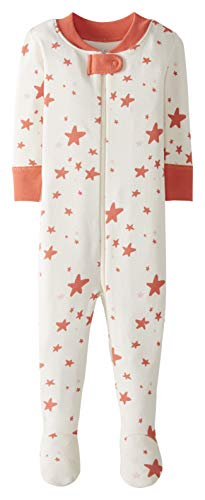 Moon and Back by Hanna Andersson Pijama de Una Pieza con Pies Infant-and-Toddler-Sleepers, Coral,...