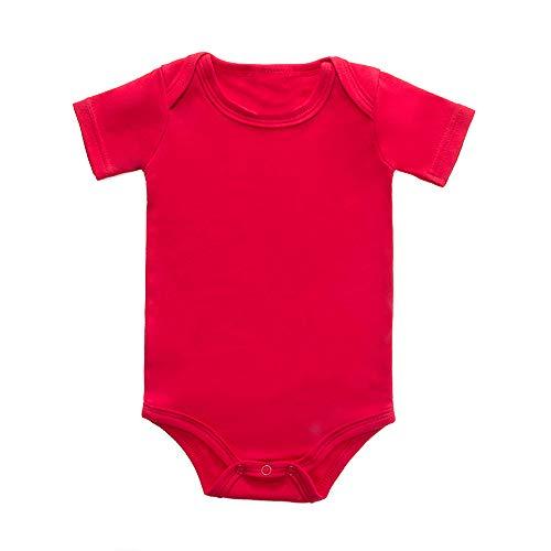 LONMEI Unisex Body para Bebés - Niñas Niños Algodón Suave y Cómodo Mameluco Color Sólido Monos...