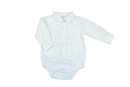 BabyVip - Body para niño y niña, Estilo Abotonado, 100% algodón, Tejido Acanalado - Blanco - 6-9...