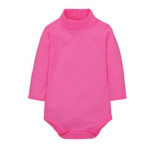 CuteOn Bodies para Bebés Niño Niña Cuello Algodón Bodysuit Bebe - Rosa 6 Meses