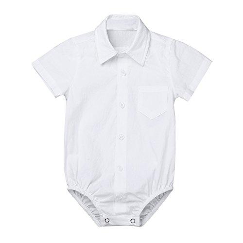 TiaoBug Bebés Mameluco Algodón Conjunto Monos Camisa Manga Corta para Recién Nacidos Unisex Mono...