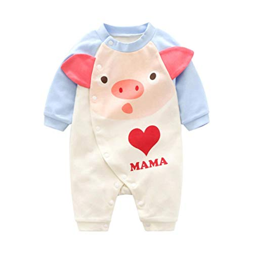 QinMM Mono de Cerdo Lindo para bebé niña y niño, Peleles Body de Primavera otoño de Manga...