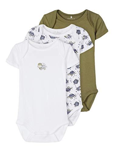 NAME IT NBMBODY 3P SS LODEN TURTLE NOOS Conjunto de ropa interior para bebés y niños pequeños,...