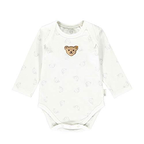 Steiff Langarm Body manga larga GOTS, Gris Dawn, 12 meses Unisex bebé