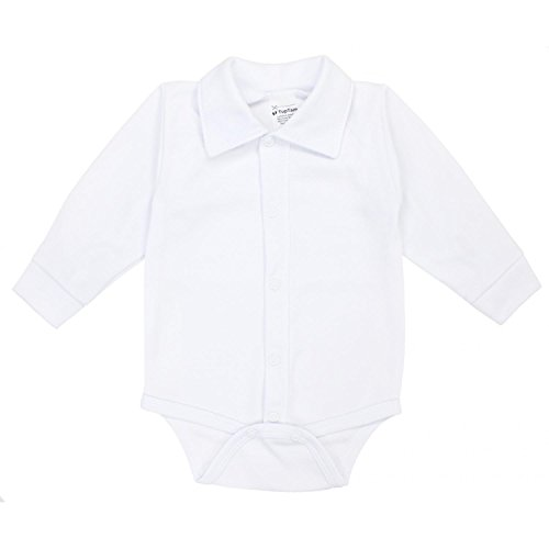 TupTam Body para Bebés de Manga Larga con Cuello, Blanco, 92