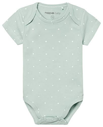Noppies U Romper SS Sevilla 67362 Body, Green (Grey Mint C175), 1 Mes Unisex bebé