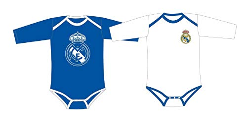 Pack 2 Bodys REAL MADRID Bebé Manga Larga (6 MESES)