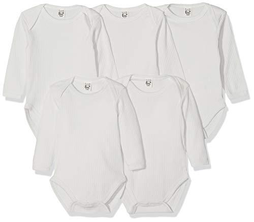 Care Unisex Baby Body, Grau (Nimbus Cloud 117), 56, 5er Pack