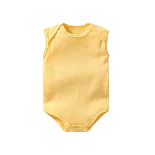 Dooxii Bebé Niños Niñas Sin Mangas Bodies Pijama Moda Color Sólido Monos Regalo Combinación...