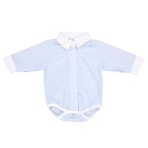 TupTam Body Camisa para Bebés con Cuello de Manga Larga, Azul, 74