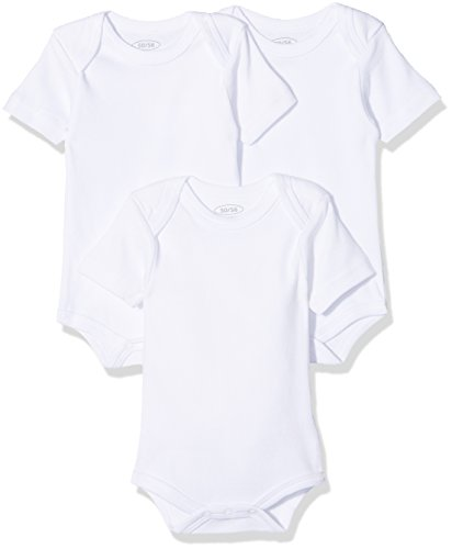 Schnizler kurzarm, 3er Pack Uni, Oeko-Tex Standard 100, Body Bebé niños, Blanco (Weiß), 62 (Talla...