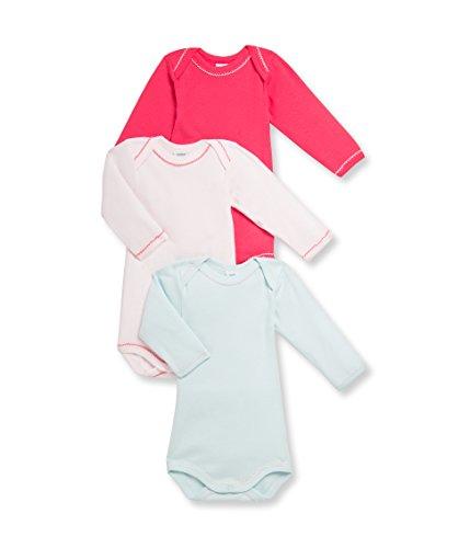 Petit Bateau Bodies bébé fille Manches Longues Body, Multicolore (Special Lot 00), FR : 3 Meses...