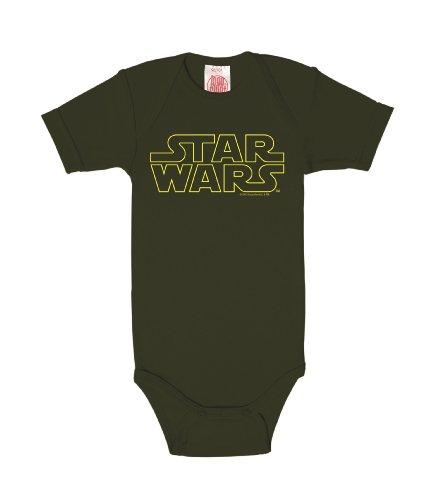 Logoshirt Star Wars Logotipo Body para bebé - Pelele para bebé - Verde Oscuro - Diseño Original...