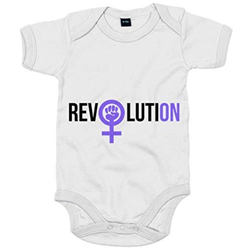 Body bebé revolución feminista Revolution - Blanco, Talla única 12 meses
