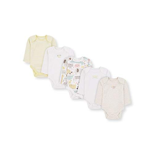 Mothercare U M&d 5pk Bodysuits LS Body, (Lights Multi 213), Early Baby (Size:2.3) para Bebés
