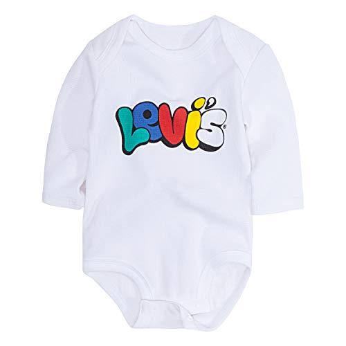 Levi's - Body de manga larga para bebé - Azul - 9 meses