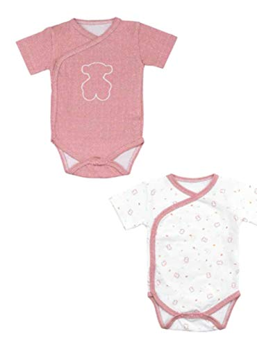 Tous Baby SET 2 BODYS CHILL-1403 MARRON TALLA 1/3 MESES
