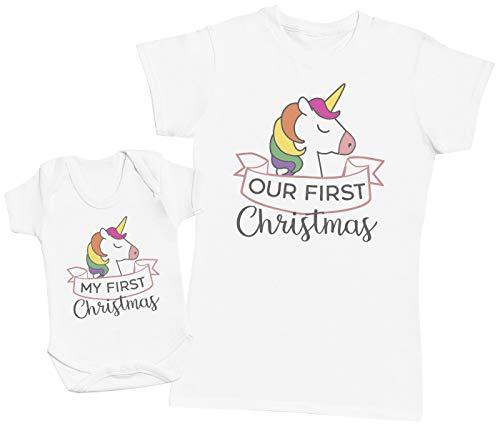 My First Christmas Unicorn Design - Regalo para Madres y bebés en un Body para bebés y una...