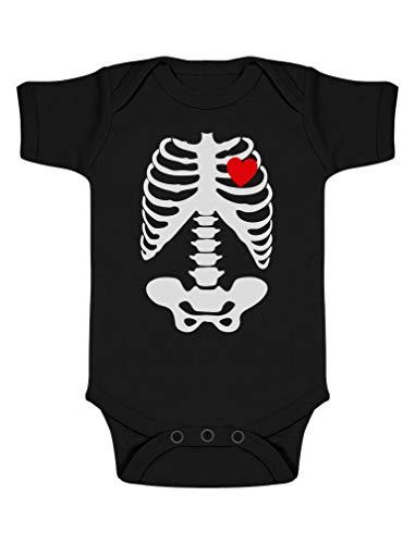 Body de Manga Corta para bebé - Prenda Estampada Esqueleto - Perefecta para Bebés en Halloween 0-3...