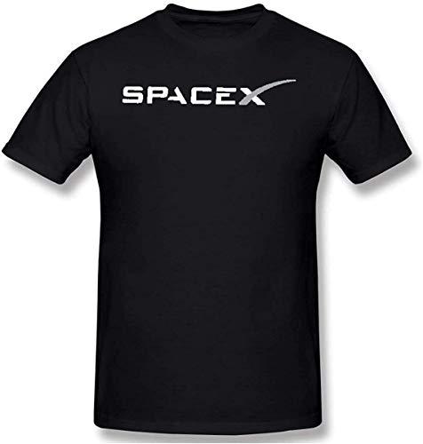 Tengyuntong Camisetas y Tops Hombre Polos y Camisas, Spacex - Camiseta de Manga Corta de algodón...