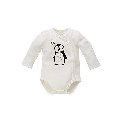 Pinokio - Body para bebé Happy Day, 100% algodón, color blanco con pingüino, body de manga larga...