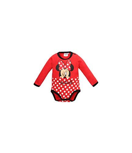 Disney Minnie 2123 Body, Rojo (Rouge Rouge), 2 años (Talla del Fabricante: 24 Meses) para Bebés