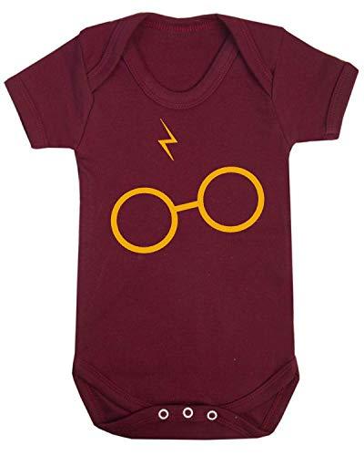 Chaleco para bebé con diseño de cicatrices y gafas, inspirado en el mago granate Talla:0-3 Meses