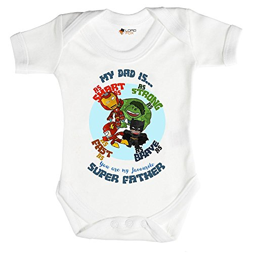 0-3 meses Babygrow My Dad is A Superhero Gift Marvel Daddy Father Babygrow Baby Grow Todos los...