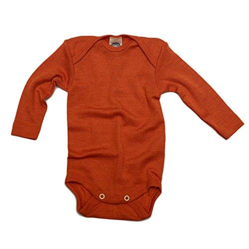 Cosilana baby - Body para bebés de lana/seda de Wollbody® Azafrán Naranja 50/56