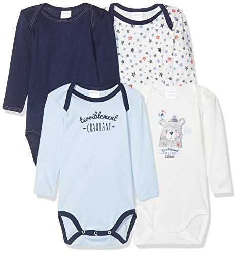 Absorba Underwear 6p60096-ra Body 4 Us Ml, Azul (Matelot 49), 3-6 Meses (Talla del Fabricante: 3M)...