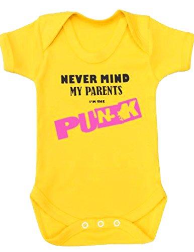 Body para bebé de BABY MOO'S, con diseño «Never Mind Punk» en inglés, ideal para regalo...