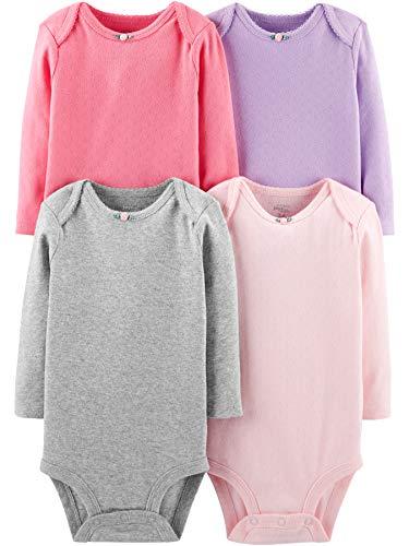 Simple Joys by Carter's - Body - para bebé niña multicolor Pink/Purple/Grey 24 Months