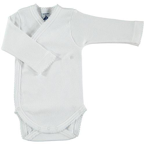 BABIDU Body Cruzado Basico Interlock, Blanco (Blanco 01), 56/62 (Tamaño del Fabricante: 1 Mes)...