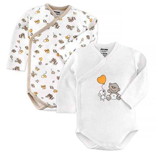 Jacky - Bodies para bebé de manga larga - 2 Ud. - 100% algodón / Oeko-Tex Standard 100 / Unisex /...