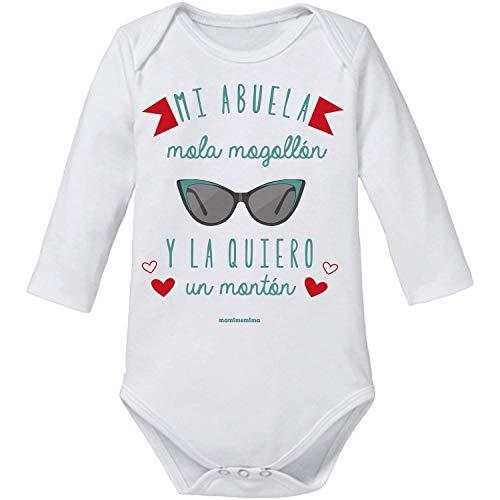 Body Bebé Abuela'Mi Abuela Mola Mogollón Y La Quiero Un Montón' (3 MESES, MANGA LARGA)