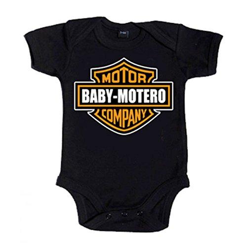 Body bebé Baby Motero - Negro, 6-12 meses