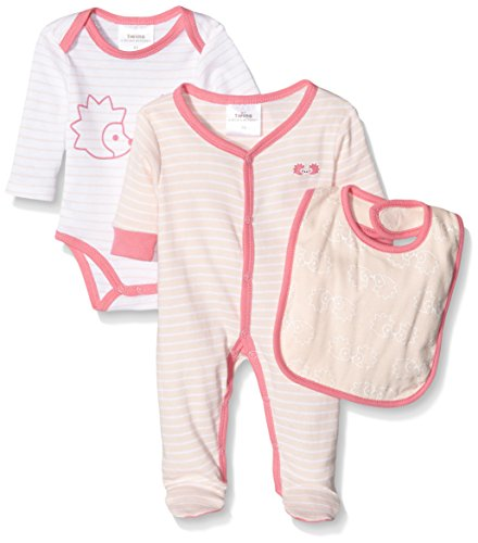 Twins Starter-Kit Igel - Body para Bebés, color Rosa (rosa 3737), talla 86 (pack con 3 unidades)