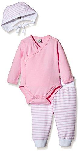 Care stripes/uni - Conjunto Bebé-Niñas, Rosa (Rose 542), 6 mois (Talla del fabricante: 62)