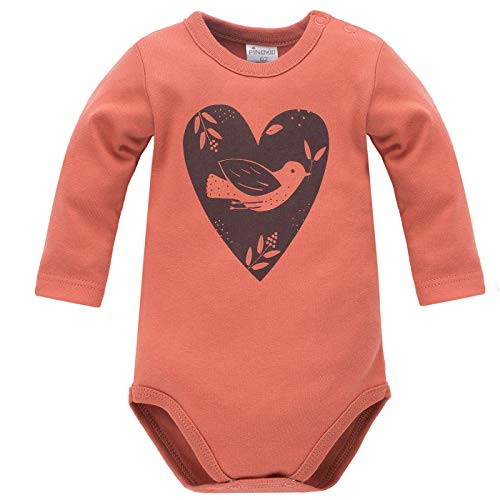 Pinokio - Little Bird - Body Niñas Bebé Baby Girls 100% Algodón Rojo con Corazon Pájaro Manga...