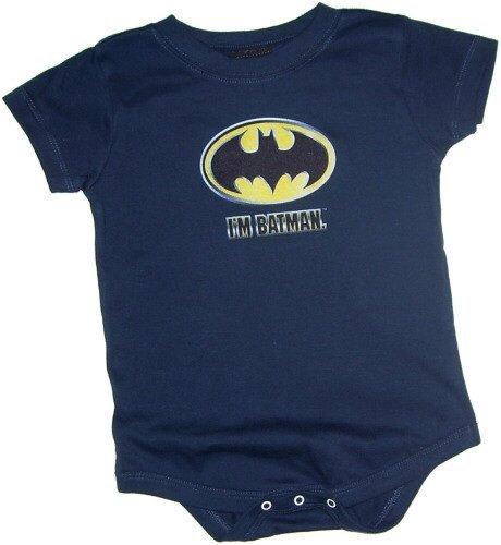 I 'm Batman Batman Shield bebé una Pieza Snapsuit - Azul -