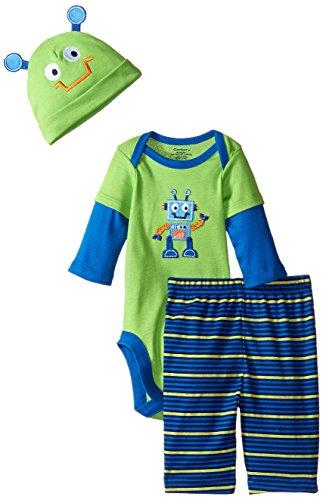 Gerber Baby Boys '3Piezas Body, Cap, y Pant Set