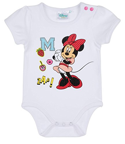 Disney Minnie Babies Girls Body bebé - Blanco - 12M