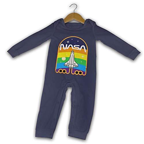 NASA Espacio Verano Manga Larga Niñas Niños Bebé Mameluco De Algodón Recién Nacido Bebé Body...