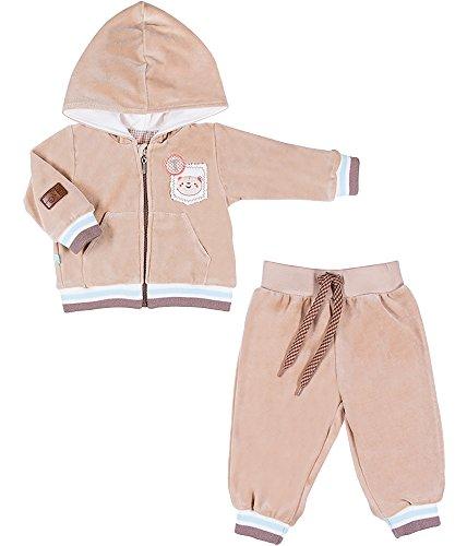 Be Mammy Conjunto Jersey y Pantalones Ropa Bebé BEEK0004 (Beige, 80)